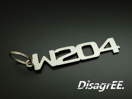 """Schlüsselanhänger """"W204"""" - GEBÜRSTET"""