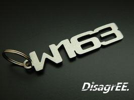 """Schlüsselanhänger """"W163"""" - GEBÜRSTET"""