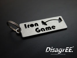 """Schlüsselanhänger """"Iron Game"""" - GEBÜRSTET"""