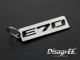 "Schlüsselanhänger ""E70"" - GLATT"