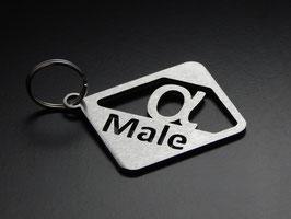 """Schlüsselanhänger """"alpha-Male"""" - GEBÜRSTET"""