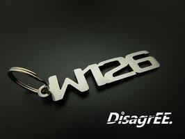 """Schlüsselanhänger """"W126"""" - GEBÜRSTET"""