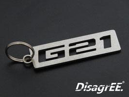 """Schlüsselanhänger """"G21"""" - gebürstet"""