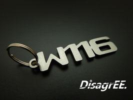 """Schlüsselanhänger """"W116"""" - GEBÜRSTET"""