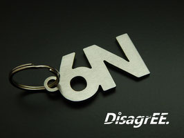 """Schlüsselanhänger """"6N"""" - GEBÜRSTET"""