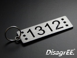 """Schlüsselanhänger """"1312"""" - GEBÜRSTET"""