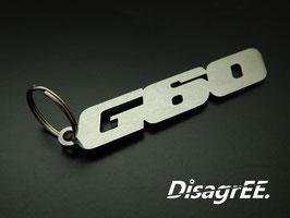 """Schlüsselanhänger """"G60"""" - GEBÜRSTET"""