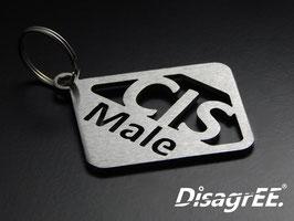 """Schlüsselanhänger """"CIS-Male"""" - GEBÜRSTET"""