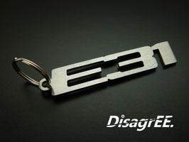 "Schlüsselanhänger ""E31"" - GEBÜRSTET"