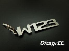 """Schlüsselanhänger """"W123"""" - GEBÜRSTET"""