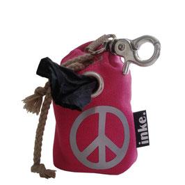 inke.-Mini PEACE-Zeichen mit Karabiner