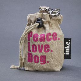 Leckerlibeutel Peace.Love.Dog. (SCHRIFT)