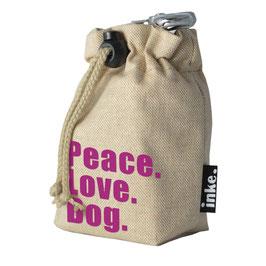 Festivalbeutel Peace.Love.Dog. (SCHRIFT)