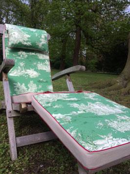 Gartenkissen & Deckchairauflage Grün/Beige