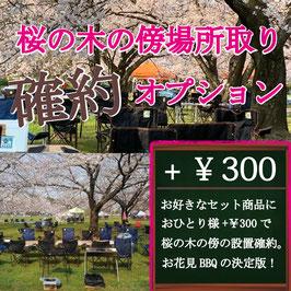 桜の木の傍での設置確約オプション
