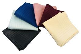 6er Set Einstecktücher / Taschentücher aus Baumwolle