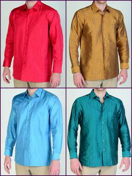 Hemden aus 100% Thai Seide mit elegantem Muster
