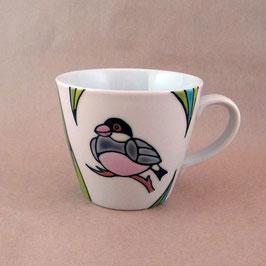 マグカップ 桜文鳥