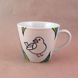 マグカップ 白文鳥