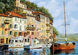 Een boot aan de kade schilderij Guido Borelli (puzzel 2000 stuks)