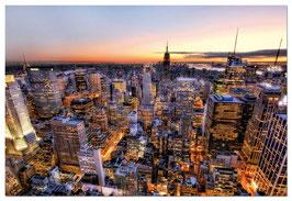 Zonsondergang New York Manhattan  (puzzel 3000 stuks)