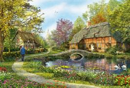 Landhuisje in het bos  (puzzel 5000 stuks)