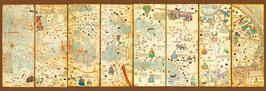 Wereldkaart 1375- Cresques Abraham (puzzel 3000 stuks)