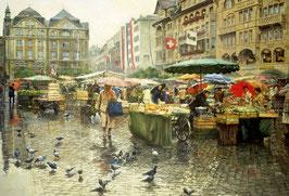 De marktplaats in Bazel (6000 stuks)