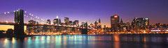Zicht van New York bij nacht - panorama  (puzzel 2000 stuks)