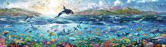 Onder de zee panorama  (puzzel 2000 stuks)
