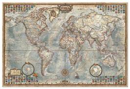 Oude wereldkaart in brons (puzzel 4000 stuks)