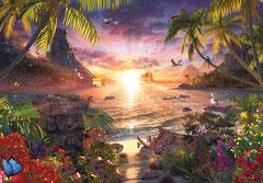 Paradijselijke zonsondergang (18.000 stuks)