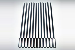 Edelstahl Grillspieße Set 10 oder 12 Stück für unseren HSA