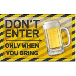 Muurdeco Don't Enter Beer