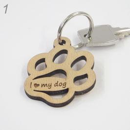 Schlüsselanhänger Hundepfote