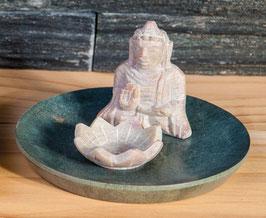 Buddha mit Lotus - Specksteinhalter