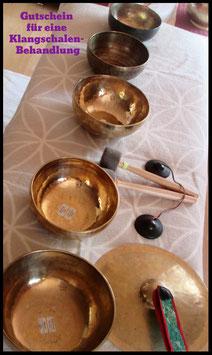 Gutschein für eine Klangschalen - Massage