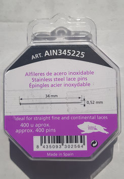 Alfileres acero inoxidable 34 x 0,52 mm