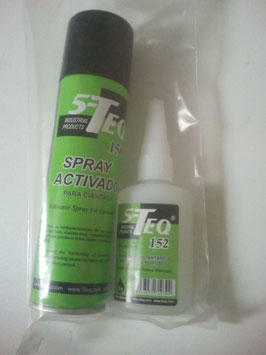 Kit cianocrilato y  spray acelerante