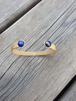 Jonc et pierres semi précieuses en Lapis Lazuli