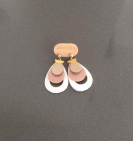 Boucles d'oreilles NAPPA OR ET ROSE SHINE