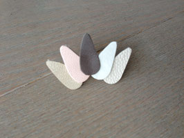 Broche coiffe taupe