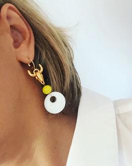Boucles d'oreilles BUFFALO JAUNE/ANIS