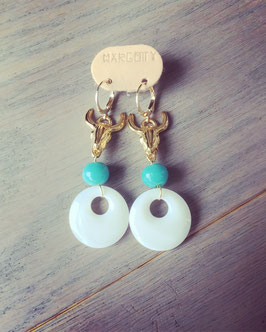 Boucles d'oreilles BUFFALO Turquoise