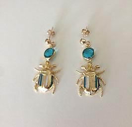 Boucles d'oreilles Néfertiti BLEUE