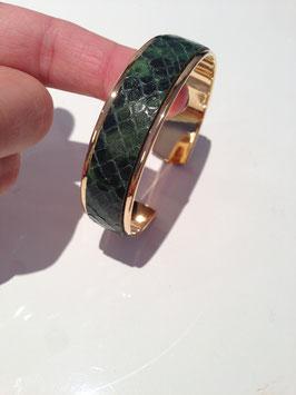 Manchette Cuir Taille S Python vert