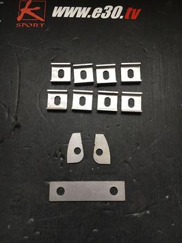 Verstärkungsbleche für die  E30 Hinterachse mit Verstellplatten