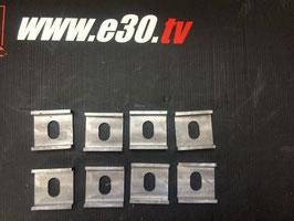 8 Anschweißplatten zum Umbau von einer e30 Hinterachse (Verstellbar)