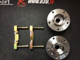 e30 Umbau der Hinterachse auf 5 Loch (2 Adapter gibt es auch ohne Narbe auf Anfrage )