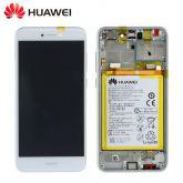 Service remplacement Ecran complet Huawei P8 Lite 2017 Service Pack (Ecran,Batterie,chassis)